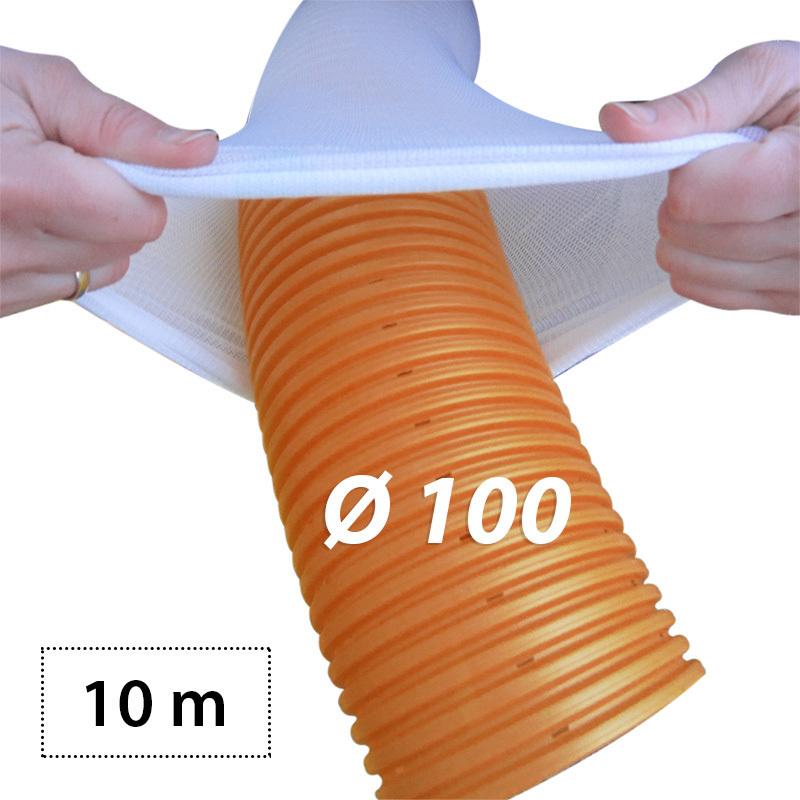 10m stangen drainagerohr 100 orange drainagevlies filter. Black Bedroom Furniture Sets. Home Design Ideas