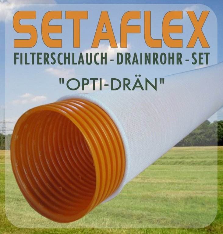 20m drainagerohr dn100 orange filterschlauch set ebay. Black Bedroom Furniture Sets. Home Design Ideas