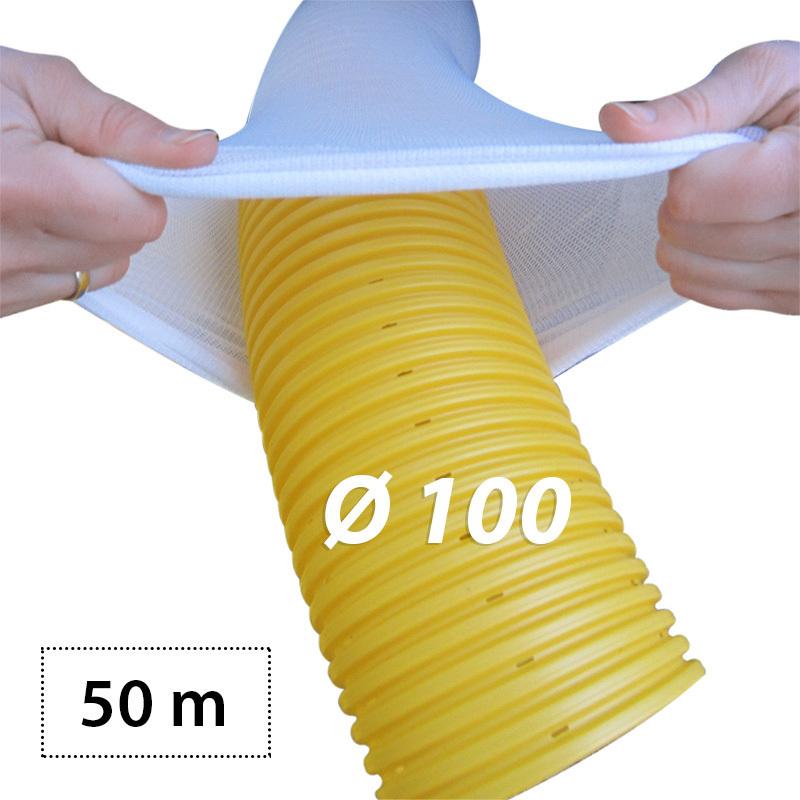 50m drainagerohr dn100 gelb filter set. Black Bedroom Furniture Sets. Home Design Ideas