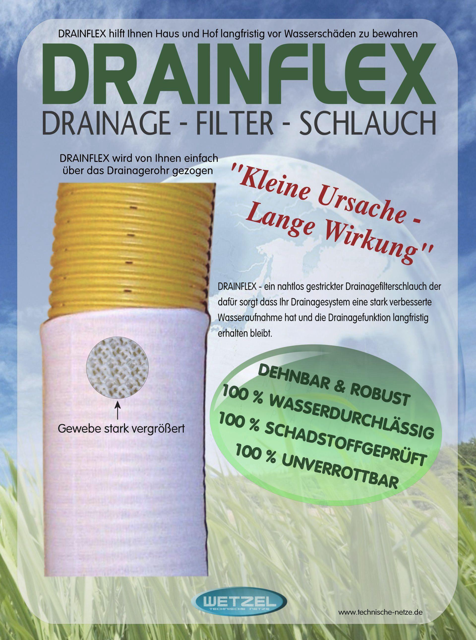 45m drainagefilterschlauch drainagevlies f r drainagerohr dn200. Black Bedroom Furniture Sets. Home Design Ideas