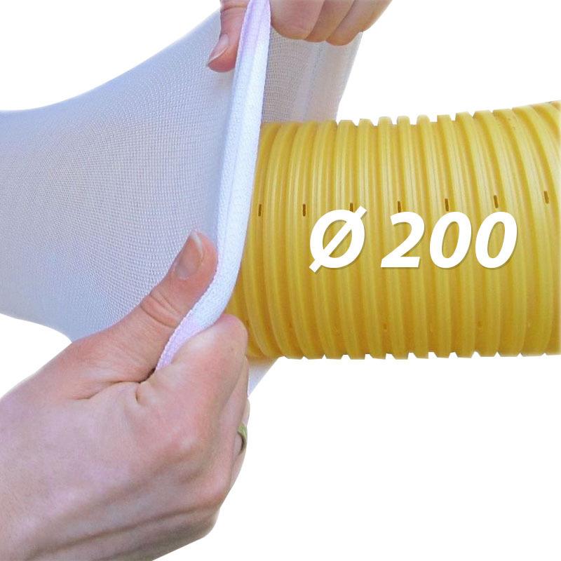 Gut bekannt Drainagefilterschlauch Drainagevlies für Drainagerohr Ø200 TE77